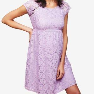 Motherhood Maternity Lace Babydoll Dress